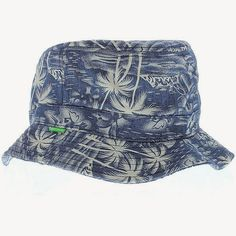 KIX & LIDZ: Mighty Healthy The Indigo Palm Bucket Hat - Indigo...Here is the Indigo Palm Bucket Hat by Mighty Healthy. This bucket is made of 100% Cotton and is made in China. You can purchase this bucket hat online at Cranium Fitteds and other Mighty Healthy retailers.