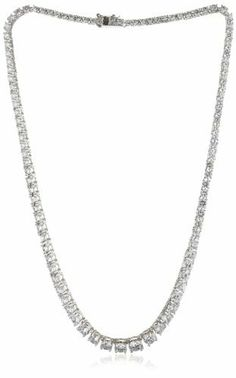 """CZ by Kenneth Jay Lane """"Basic Cubic Zirconia"""" Graduated Necklace CZ by Kenneth Jay Lane. $170.00. Made in CN. Made in China"""