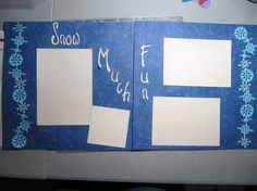 Premade 12x12 Snow Much Fun Scrapbook Pages by CreationsByCandi, $15.00