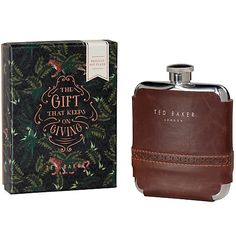 Buy Ted Baker Hip Flask with Faux Leather Wrap Online at johnlewis.com