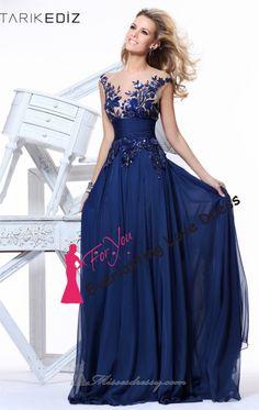 2014 New Fashion Embroider See Through V-neck Blue Chiffon Long Evening Dress vestidos de fiesta Prom Gown Party Zuhair Murad US $97.00  Allie