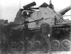 Here is a picture of a 152mm AP round against a Sturmpanzer IV. As you can see, the whole superstrucure basically caved in