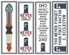 DOCTOR WHO BOOKMARKS (Series Two) Cross Stitch Chart Collection