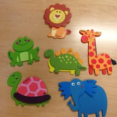 Animal door decs, cheap at Walmart and just added names