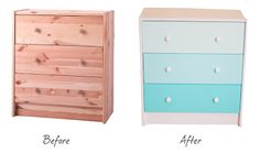 Sew Much Love: IKEA Dresser To Ombre Dresser