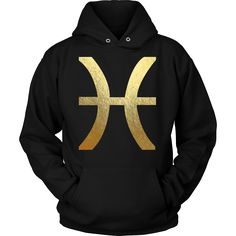 Pisces Gold Sign Hoodie || Zodiac || Zodiac Sign || Zodiac Gift || Zodiac Shirt || Pisces || Pisces Zodiac Gift || Gift For Pisces || February Birthday Gift || March Birthday Gift