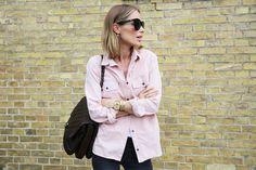 Anine Bing pink shirt