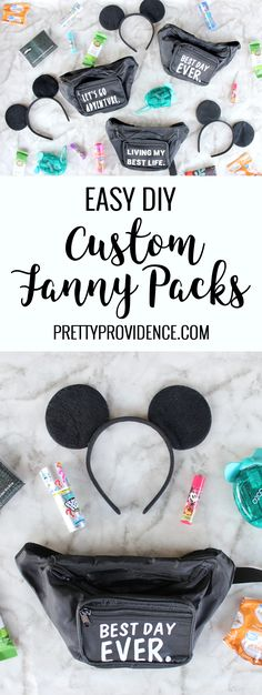 How adorable are these easy custom fanny packs made with the Cricut Maker? I made them for my kids to bring to Disneyland an… – diy decoration Birthday Gift For Him, Unique Birthday Gifts, Birthday Gifts For Boyfriend, Boyfriend Gifts, Gifts For Friends, Gifts For Him, Cricut Iron On Vinyl, Disney Diy Crafts, Everyday Carry Gear