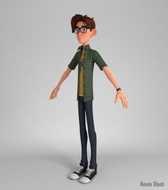 Just finished this character. I learned a lot of cool things with this project and i hope you guys like it! Here is a simple backstory: Nate is a high school student with a passion for outer space and spaceships. Boy Character, Character Concept, 3d Character Animation, Eco Kids, Cartoon Boy, Cartoon Art Styles, Boy Art, Character Design Inspiration, Short Film