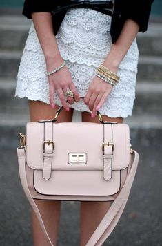 BLUSH CRUSH Feminine? Check. Lust-worthy? Check. What's not to love about Blogger Vanessa C from The vogue word ultra-girly outfit? And to think, it all started with her satchel bag... ‪#‎bagandbrag‬