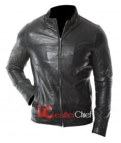 Black Men's Leather Jacket In Simplistic Design Leather chief $154