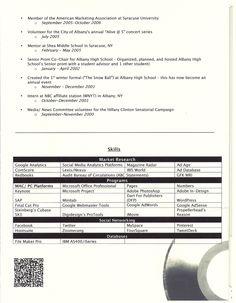 Kathryn SanoS Events  Marketing Resume  Page  Kathryn N
