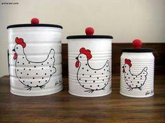 Ideias para reciclar latas e ajudar a natureza. Kein nosso dia dia na cozinha joga … - Gärtnern Coffee Can Crafts, Tin Can Crafts, Jar Crafts, Bottle Crafts, Home Crafts, Diy Home Decor, Diy And Crafts, Kids Crafts, Room Decor