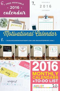 15 Of The Best Free Calendar printables for 2016