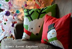Christmas Placemat Pillows... Easy!!!
