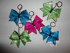 Mystic / Hologram Keychain Bow-keychain cheer bows, keychain cheerleading bows, cheerleading team gifts