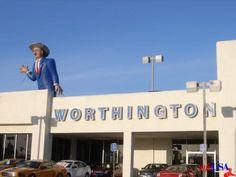 "Cal Worthington ""I'll stand on my head"" car dealer...really old man now"