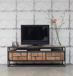 Dit tv meubel springt echt de kamer uit. Door zijn speelse vormgeving is dit meubel echt uniek. Bekijk het tv meubel op www.living27.nl
