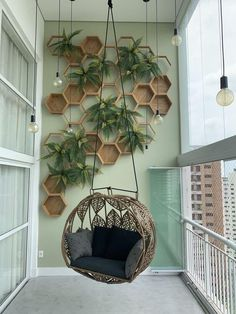 Small Balcony Design, Small Balcony Garden, Small Balcony Decor, House Plants Decor, Plant Decor, Home Room Design, House Design, Garden Design, Apartment Balcony Decorating