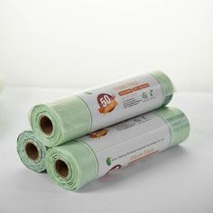 Biodegradable trash bags can be from various materials. Compostable bags break down much quicker because there made with cornstarch or potato starch. So no petrochemicals and no harming the environment. Biodegradable Plastic, Biodegradable Products, Compost Bags, Corn Starch, Rolling Pin, Potato, Environment, Good Things, Canning