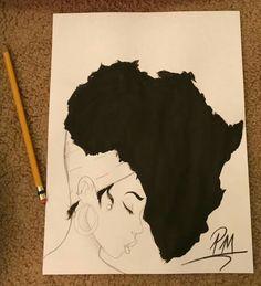 ideas for black art tattoo ideas beauty Black Art Painting, Black Artwork, Black Love Art, Black Girl Art, Kunst Tattoos, Body Art Tattoos, Tattoo Art, Afro Tattoo, Tatoos