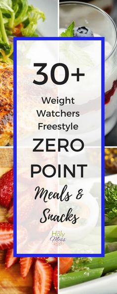 Healthy Weight 30 Weight Watchers Freestyle Zero Point Meals and Snacks - Are you using Weight Watchers and looking for meal and snack ideas? Here are 30 Weight Watchers Freestyle zero point meals and snacks to keep you losing weight the healthy way. Weight Watcher Dinners, Weight Loss Meals, Plats Weight Watchers, Weight Watchers Smart Points, Weight Watchers Diet, Weight Loss Challenge, Weight Loss Drinks, Weith Watchers, Ww Recipes