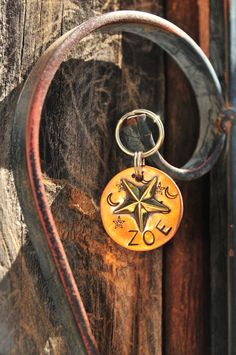 Key Chain, key fob, key holder, key hook, Copper and Brass Soldered Star Custom Key Chain by SwankyDogBoutique on Etsy