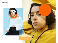 Stories Collective / Colour Extravaganza / Photography Shuhei Shine / Styling Yuuki Yasuda / Make up Makiko Endo at Takahashi Office / Hair UCO at The voice management / Model Sakura at Amazone / Design Hello this is Kae #fashion #photography #editorial #layout #graphic #design #colours #japan