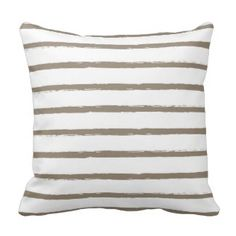 Textured Stripes Lines Taupe Beige Ivory Modern Throw Pillows  Save 15% on all pillow orders! LAST DAY Use Code: ZAZTAXSAVING