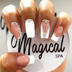 Best Nail Art Designs, Birthday Nails, Cool Nail Art, Manicure And Pedicure, Beauty, Nail Art, Classy Gel Nails, Polish Nails, Short Nail Manicure