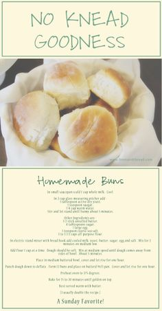 i lived on wisteria lane: No Knead Homemade Rolls (or buns as we call them)
