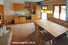 We help you to find the perfect location for your wagrain lejlighed or skiing holiday. The Wagrain is a wide and family as well as friendly ski area wherein many vacationers come to enjoy holidays every year. Skiing, Holidays, Kitchen, Table, Furniture, Home Decor, Ski Trips, Ski, Cuisine