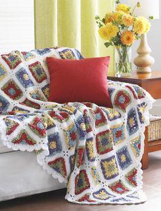 Country Charm Crochet Blanket Pattern   AllFreeCrochetAfghanPatterns.com