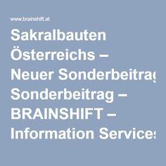 Sakralbauten Österreichs – Neuer Sonderbeitrag – BRAINSHIFT – Information Services & Technologies