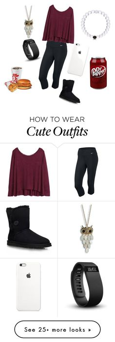 """Cute outfit"" by bminman on Polyvore featuring NIKE, H&M, Fitbit, Aéropostale and UGG Australia"