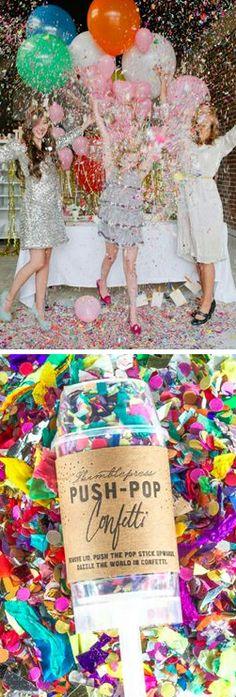 Push-Pop Confetti! #product_design Anthropologie #anthrofave
