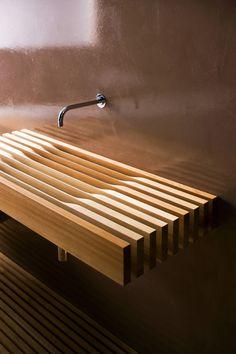 Larch Wood Sink ~ Designer:Matteo Thun (www.matteothun.com/)