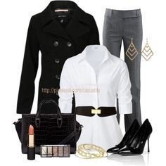 """Business Woman Attire"" by casuality on Polyvore"