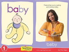 "Learn to sign ""baby"" in American Sign Language. Pretend you are cradling and rocking a baby. Sign Language Book, Sign Language For Kids, Learn Sign Language, British Sign Language, Libra, Baby Signing Time, Learn To Sign, Asl Signs, Language Development"