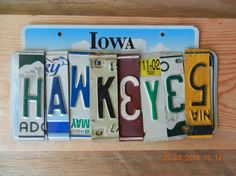 Iowa Hawkeyes License Plate Sign by TreasuredSunsets on Etsy, $29.95