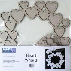 Heart Wreath Chipboard Tando Creative Ready by LillysAlteredAttic, £4.25