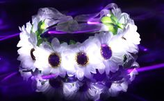 White Daisy Flower LED LightUp Crown/Floral by LUMiLtd on Etsy