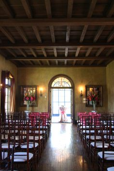 Indoor Wedding Ceremony At Dresser Mansion