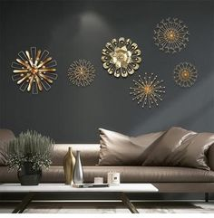 Iron Wall Decor - Expert Consultancy To Create A Greater Redecorating Plan - Iron Wall Decor 3d Flower Wall Decor, Gold Wall Decor, Metal Wall Art Decor, Wall Stickers Home Decor, Hanging Wall Art, Flower Art, Gold Walls, Metal Walls, Tv Wanddekor
