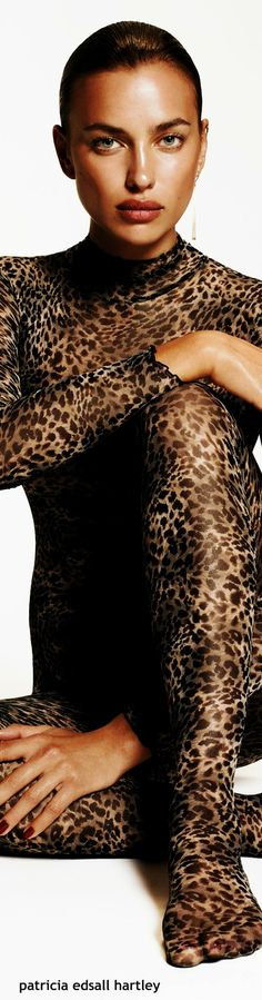 Irina Shayk - Vogue Spain 2014  Animal print, perfect for some occasions.