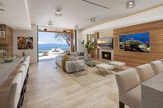 カリフォルニアの海を見晴らすハイテクホーム