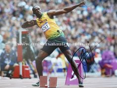 Usain Bolt at the London 2012 olympics Signed photo available  http://www.universalautographs.co.uk/usain-bolt-16-x-12-photo-56-p.asp