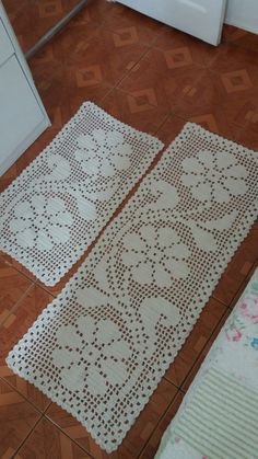 Crochet Patterns Filet, Crochet Lace Edging, Crochet Borders, Filet Crochet, Crochet Doilies, Stitch Patterns, Shabby Chic Flowers, Christmas Table Cloth, Craft Images