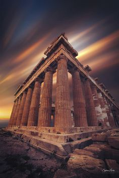 Amazing photo of the Acropolis,Athens,Greece by Spiros Lioris Greece Architecture, Architecture Antique, Art And Architecture, Ancient Ruins, Ancient Greece, Greece Photography, Travel Photography, Parthenon Greece, Places To Travel