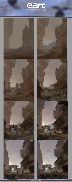 原画场景 场景教程 绘画步骤@艺数绘采集到艺数绘CG教程(25图)_花瓣游戏